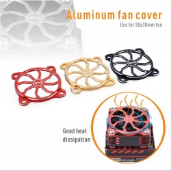 Fan cover alu 30mm noir [1pc]