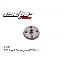 ET001 - Couronne avant 43 dents 6mm [1pc]