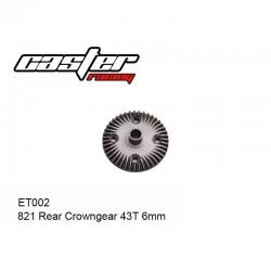 ET002 - Couronne arrière 43 dents 6mm [1pc]