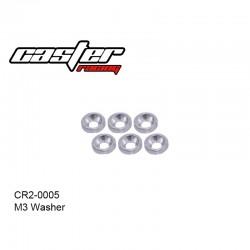 CR2-0005 - Rondelle cuvette alu M3 [6pcs]