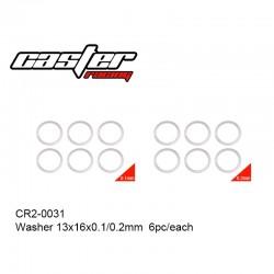 CR2-0031 - Rondelle de calage de différentiel [6+6pcs]