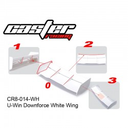 CR8-014-WH - Aileron DownForce blanc [1pc]