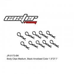 JR-0173-BK - Clips de carrosserie 1/8 noir [10pcs]