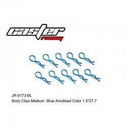 JR-0173-BL - Clips de carrosserie 1/8 bleu [10pcs]