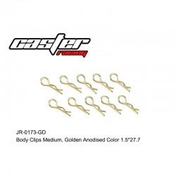 JR-0173-GD - Clips de carrosserie 1/8 or [10pcs]