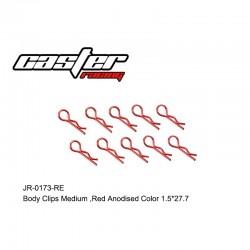 JR-0173-RE - Clips de carrosserie 1/8 rouge [10pcs]