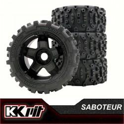 KKPIT SABOTEUR - Pneus + insert + jante 1/9 Truggy [1set]