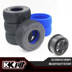 KKPIT MUDFIGHT - Pneus 1/10 SC + insert + jante STAR [1set]