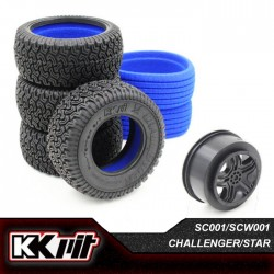 KKPIT CHALLENGER - Pneus 1/10 SC + insert + jante STAR [1set]