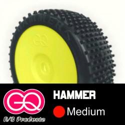 GQ Hammer Médium - pneus 1/8 buggy collé [1paire]