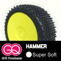 GQ Hammer Super Soft - pneus 1/8 buggy collé [1paire]