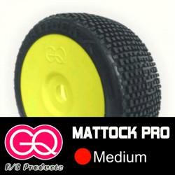 GQ Mattock Médium - pneus 1/8 buggy collé [1paire]