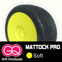 GQ Mattock Soft - pneus 1/8 buggy collé [1paire]