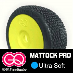 GQ Mattock Ultra Soft - pneus 1/8 buggy collé [1paire]