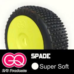 GQ Spade Super Soft - pneus 1/8 buggy collé [1paire]