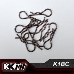 K1-BC - Clips de carrosserie 1/10 [10pcs]